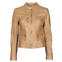 material Women Leather jackets / Imitation leather Oakwood EACH Camel
