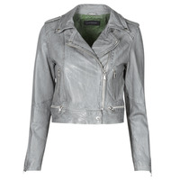 material Women Leather jackets / Imitation leather Oakwood KYOTO Grey