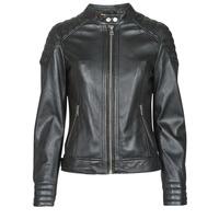 material Women Leather jackets / Imitation leather Oakwood ELLA Black