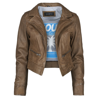 material Women Leather jackets / Imitation leather Oakwood TRISH Brown