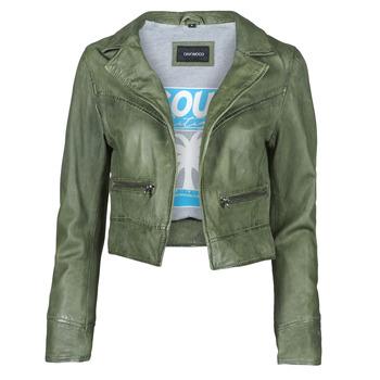 material Women Leather jackets / Imitation leather Oakwood TRISH Green