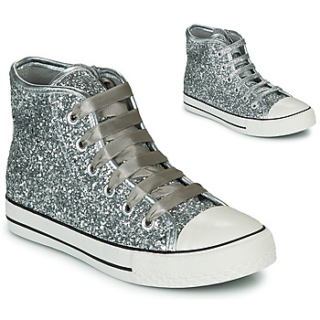 Shoes Girl High top trainers Citrouille et Compagnie OUTIL Silver