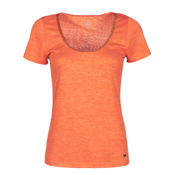 material Women short-sleeved t-shirts Les Petites Bombes BAMBY Orange
