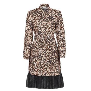 material Women Short Dresses Liu Jo WA1218-T9147-T9680 Leopard