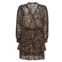 material Women Short Dresses Liu Jo WA1530-T5059-T9680 Leopard
