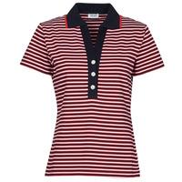 material Women short-sleeved polo shirts Liu Jo WA1142-J6183-T9701 Marine / White / Red