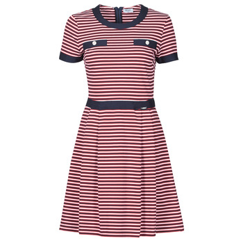 material Women Short Dresses Liu Jo WA1141-J6183-T9701 Marine / White / Red