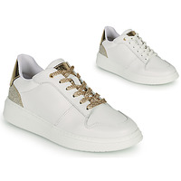 Shoes Girl Low top trainers BOSS NILLA White / Gold
