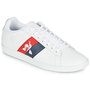 Shoes Men Low top trainers Le Coq Sportif COURTCLASSIC FLAG White / Red