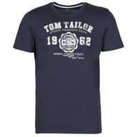 material Men short-sleeved t-shirts Tom Tailor  Marine