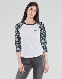 material Women Long sleeved shirts Vans CALIFAS White / Black