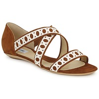 Shoes Women Sandals Moschino DELOS SAND CAMEL / Ivory
