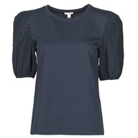 material Women short-sleeved t-shirts Esprit T-SHIRTS Black