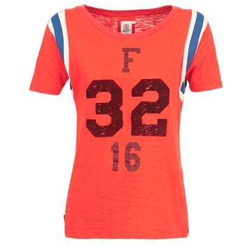 material Women short-sleeved t-shirts Franklin & Marshall POINTO CORAL