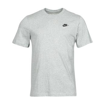 material Men short-sleeved t-shirts Nike NSCLUB TEE Grey / Black