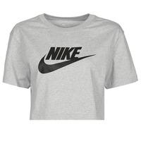 material Women short-sleeved t-shirts Nike NSTEE ESSNTL CRP ICN FTR Grey / Black