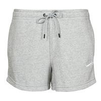 material Women Shorts / Bermudas Nike NSESSNTL FLC HR SHORT FT Grey / White