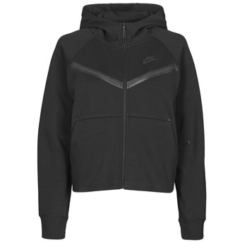 material Women Jackets Nike NSTCH FLC WR ESSNTL FZ HDY Black