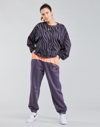 material Women Tracksuit bottoms Nike NSICN CLSH JOGGER MIX HR Violet / Pink