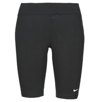 material Women leggings Nike NSESSNTL MR BIKER SHORT Black / White
