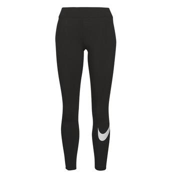 material Women leggings Nike NSESSNTL GX MR LGGNG SWSH Black / White