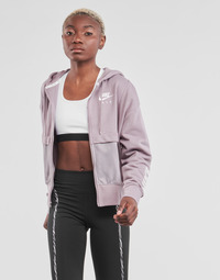 material Women sweaters Nike NSAIR FZ TOP FLC Violet / White