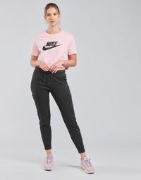 material Women Tracksuit bottoms Nike NSAIR PANT FLC MR Black / White