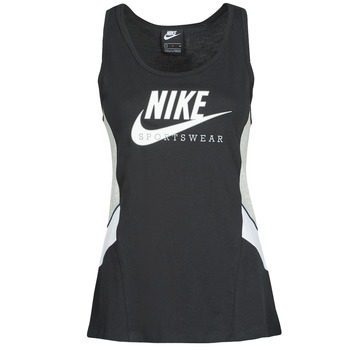 material Women Tops / Sleeveless T-shirts Nike NSHERITAGE TTOP HBR Black / Grey / White