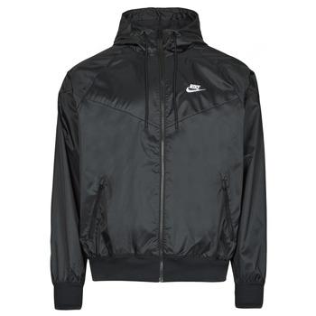 material Men Macs Nike NSSPE WVN LND WR HD JKT Black / White
