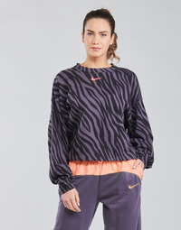 material Women sweaters Nike NSICN CLSH CREFLC AOP Violet