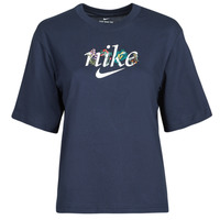 material Women short-sleeved t-shirts Nike NSTEE BOXY NATURE Blue