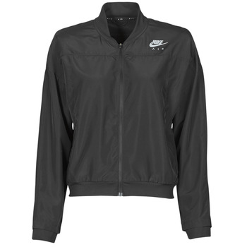 material Women Macs Nike AIR JACKET Black / Silver