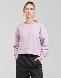 material Women sweaters Nike DRY GET FIT CRESWSH Violet / White