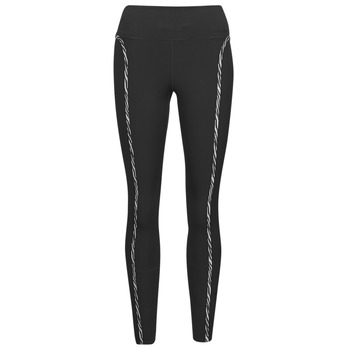 material Women leggings Nike NIKE ONE LUXE ICNCLSH TGT Black / Violet