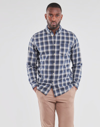 material Men long-sleeved shirts Selected SLHSLIMCLAYTON Marine