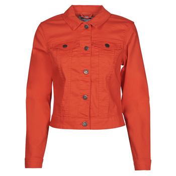 material Women Denim jackets Noisy May NMDEBRA Red