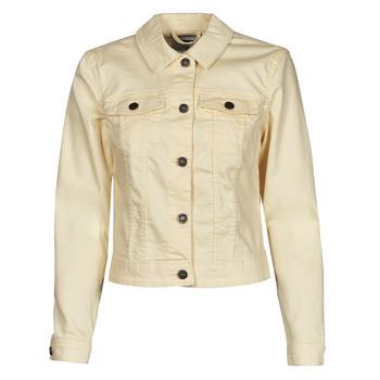 material Women Denim jackets Noisy May NMDEBRA Yellow
