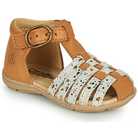 Shoes Girl Sandals Citrouille et Compagnie RINE Camel / Gold