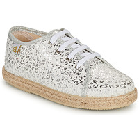 Shoes Girl Low top trainers Citrouille et Compagnie OKOKI Silver