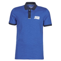material Men short-sleeved polo shirts Jack & Jones JCOBERG Blue