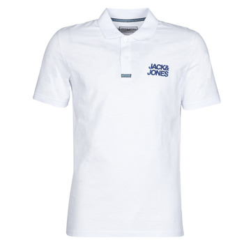 material Men short-sleeved polo shirts Jack & Jones JCOBERG White