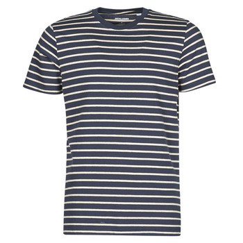 material Men short-sleeved t-shirts Jack & Jones JJESTRIPED Marine