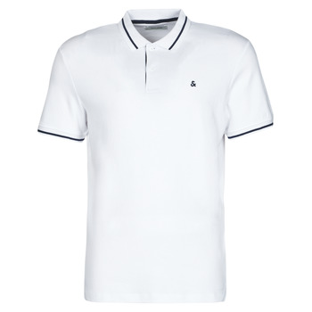 material Men short-sleeved polo shirts Jack & Jones JJEJERSEY White