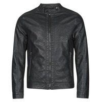 material Men Leather jackets / Imitation leather Jack & Jones JJEWARNER Black
