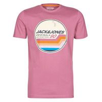 material Men short-sleeved t-shirts Jack & Jones JORTYLER Pink
