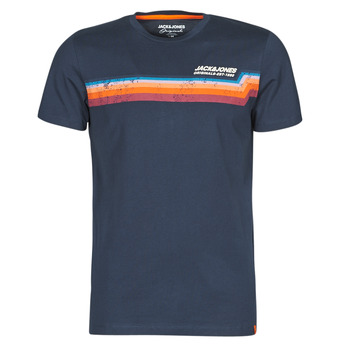 material Men short-sleeved t-shirts Jack & Jones JORTYLER Marine