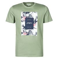 material Men short-sleeved t-shirts Jack & Jones JORFLORALL Green