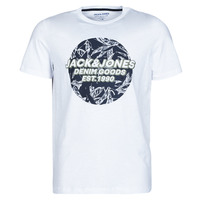 material Men short-sleeved t-shirts Jack & Jones JORLEFO White
