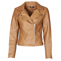 material Women Leather jackets / Imitation leather Only ONLGEMMA Cognac