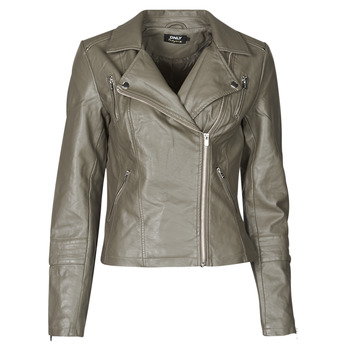 material Women Leather jackets / Imitation leather Only ONLGEMMA Grey